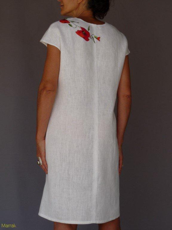 001 (9)-Création de vêtements en lin peint à la main