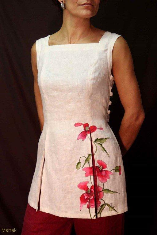 126-Création de vêtements en lin sur mesure Marie LARTHET