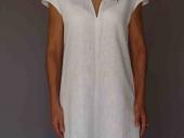 001 (1)-Création de vêtements en lin peint à la main