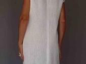 001 (2)-Création de vêtements en lin peint à la main