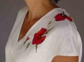 001 (3)-Création de vêtements en lin peint à la main