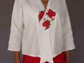 001 (5)-Création de vêtements en lin peint à la main