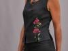 001 (21)-Création de vêtements en lin peint à la main