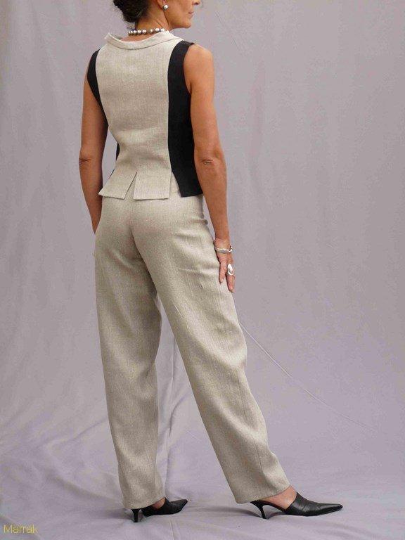 12-Création de vêtements en lin sur mesure Marie LARTHET