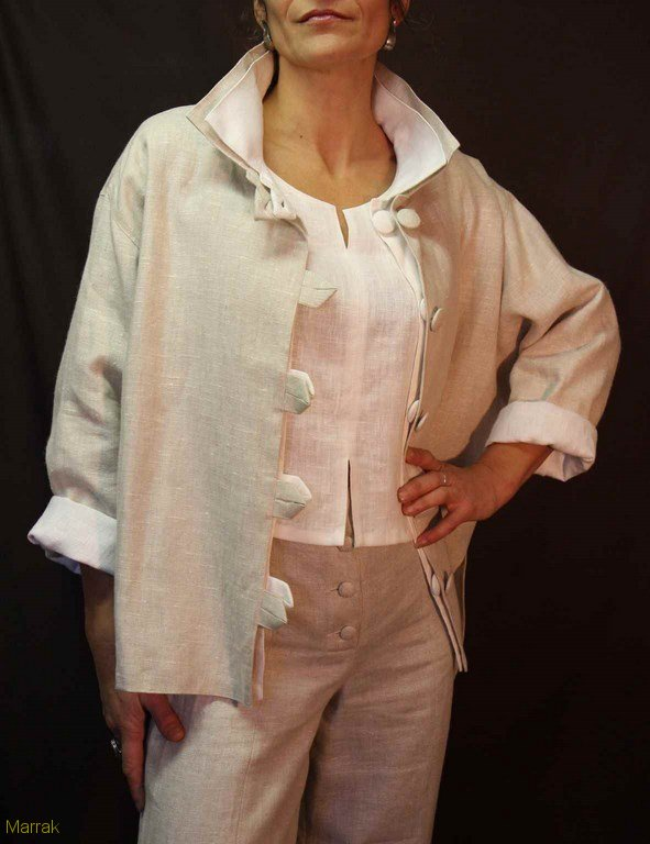 127-Création de vêtements en lin sur mesure Marie LARTHET