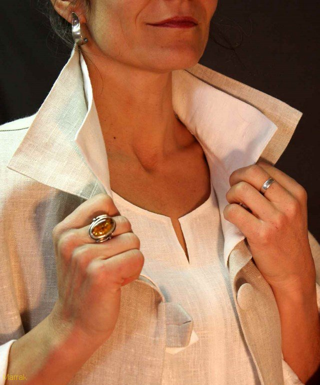 128-Création de vêtements en lin sur mesure Marie LARTHET