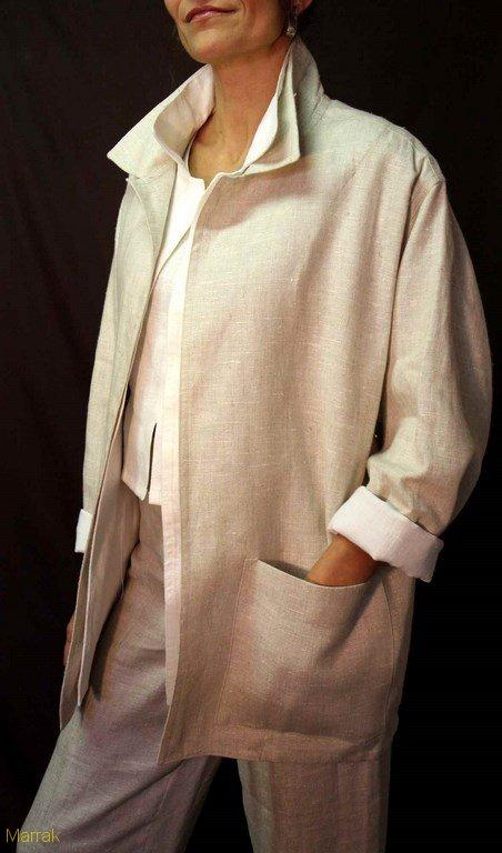 129-Création de vêtements en lin sur mesure Marie LARTHET