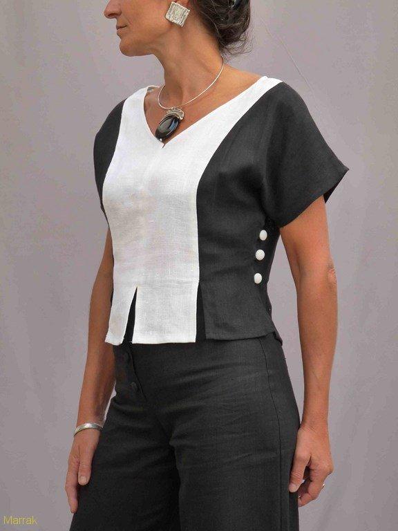 15-Création de vêtements en lin sur mesure Marie LARTHET