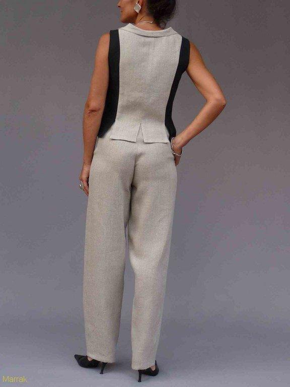 14-Création de vêtements en lin sur mesure Marie LARTHET