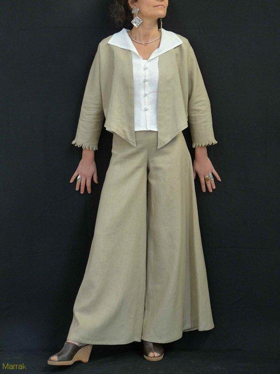 74-Création de vêtements en lin sur mesure Marie LARTHET